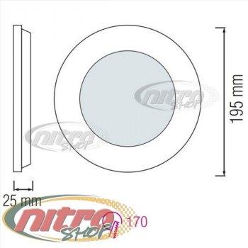 Світильник світлодіодний вбудований Horoz Electric Slim-15 15Вт(~120 Вт) 6400К круглий (056 003 0015)