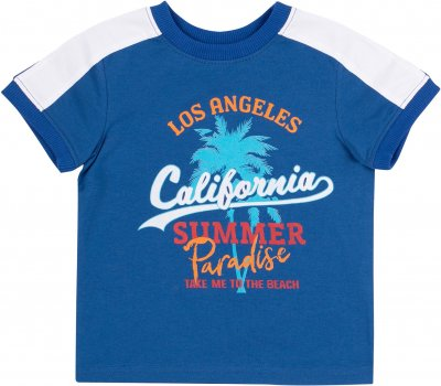 Костюм (футболка + шорты) Бемби КС615 Синий с серым