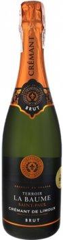 Вино ігристе Domaine de la Baume Cremant deLimoux біле брют 0.75 л 13% (250010923657_ 3500610106927)