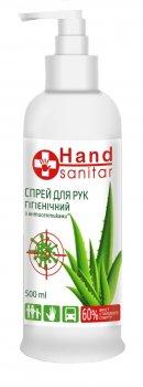 Антибактеріальний рідкий засіб для рук Hand sanitar з алое вера 500 мл (4823080005194/7123456789107)