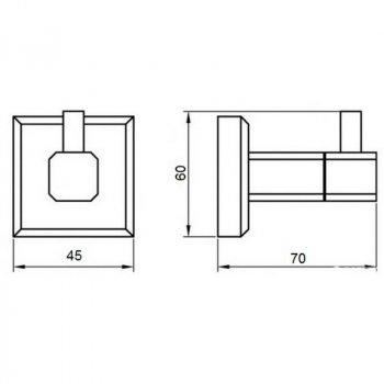 Крючок для ванной GF (BLB)/S-2605-1 настенный