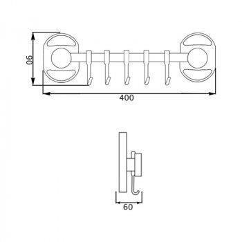 Крючок для ванной Potato P2914-5 настенный