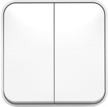 Вимикач VIDEX Binera накладний 2 кл. Білий (VF-BNS12-W)