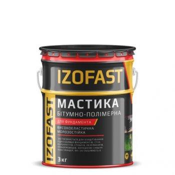 Мастика бітумно-полімерна Izofast 3 кг 10826690