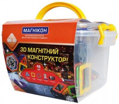 3D магнитный конструктор МАГНІКОН, 48 дет. Plastic box