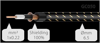 Інструментальний кабель Roxtone TGJJ300L1, Jack - Jack, 1x0.22, 1 м