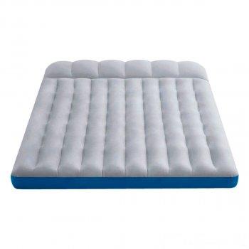 Полуторный надувной матрас Intex 67999-1 Camping Mats с двумя подушками и ручным насосом 127 x 193 x 24 см Серый (RT-67999-1)