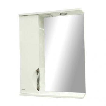 Зеркало с пеналом Грация 55 см белое (левое) (11506075)