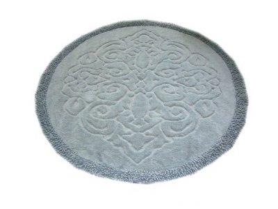 Коврик Круг серый 120х120 см (11962524)