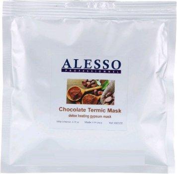 Альгинатная гипсовая маска ALESSO Detox Heating Gypsum Thermic Mask Термо-активная шоколадная омолаживающая 100г
