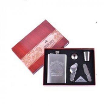 Подарочный набор с флягой 4в1 Jeam beam Arivans 265 мл серебристый 25-033