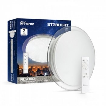 Світлодіодний SMART світильник Feron AL5000 STARLIGHT 36W пульт д/у (29633)