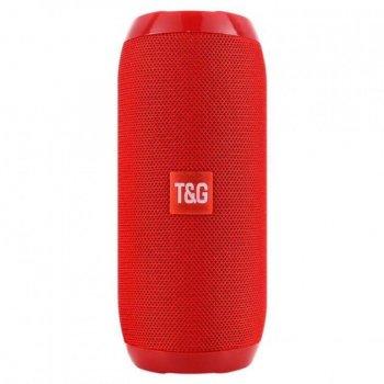 Портативна акумуляторна Bluetooth колонка вологостійка TG 117 Red (00607)