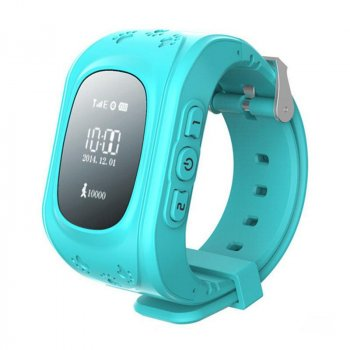 Смарт годинник телефон з GPS Smart Watch Q 50. Блакитні