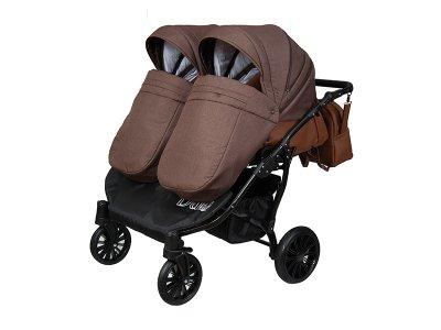 Дитяча коляска для двійні 2 в 1 Angelina Amadeo Duo шоколадна color 5