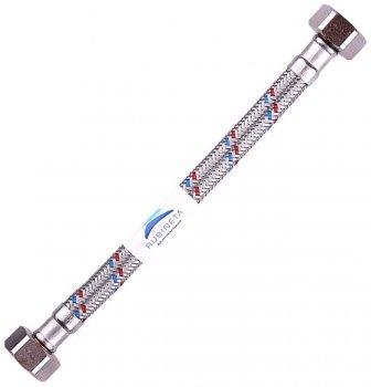 """Шланг водопровідний RUBINETA 3/8""""x1/2"""" 80 см В-В гнучкий 610081"""