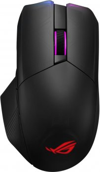 Миша Asus ROG Chakram Wireless/Bluetooth/USB Black (90MP01K0-BMUA00)