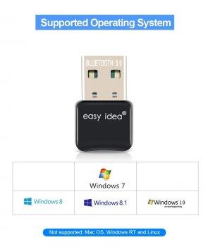 USB Bluetooth 5.0 адаптер Easy Idea для компьютера на чипе RTL8761BUV