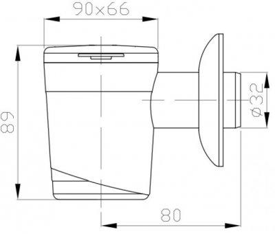 Сифон наружного монтажа для кондиционера PLAST BRNO 32 мм белый (EK2P000)