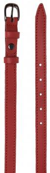 Женский ремень кожаный Sergio Torri 8-0017 90-100 см Светло-Красный (2000000014463)