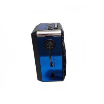 Акустическая система радиоприемник FM аккумуляторный с USB выходом колонка с радио Синий Golon (rx-9122)