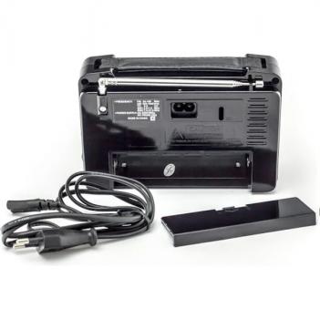 Акумуляторний радіоприймач FM радіо колонка Чорно-коричневий Golon (RX-608)