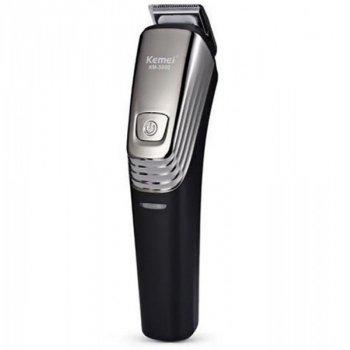 Набор для стрижки волос Kemei LFQ-KM-5900 5 Вт аккумуляторная машинка для стрижки триммер и бритва 6 в 1 титановая сталь 10 насадок + подставка (KM-5900 DK)