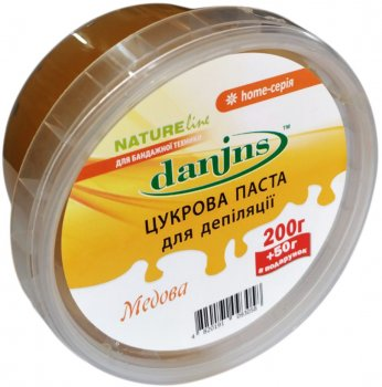 Паста для шугарингу Danins Медова бандажна в домашніх умовах 250 г (4820191093058)