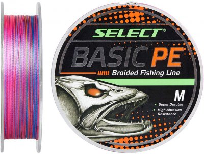 Шнур Select Basic PE 100 м 0.12 мм 5.6 кг Разноцветный (18703080)