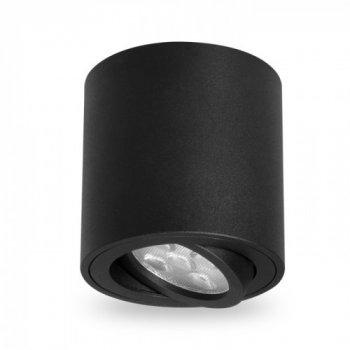 Накладної поворотний світильник Feron ML302 MR16 GU10 Чорний 80х90 мм (1045844760)