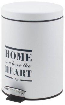 Відро для сміття Trento Home Heart білий 5 л (46407)