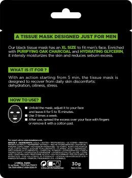 Тканевая маска для лица L'Oreal Paris Men Expert Pure Charcoal для мужчин 30 г (3600523704385)