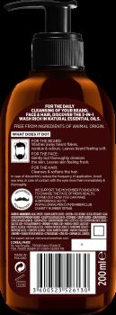 Шампунь L'Oreal Paris Men Expert Barber Club Очищающий для волос, бороды и лица 200 мл (3600523526130)