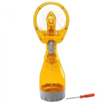 Ручной вентилятор с увлажнителем воздуха пульверизатор Maxland Water Spray Fan Оранжевый