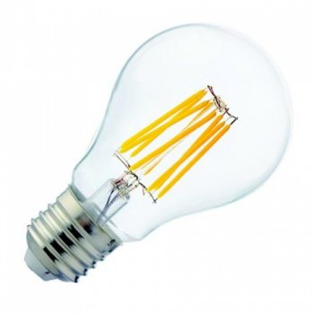 Лампа світлодіодна филаментная Horoz Electric GLOBE-8 Filament LED 8Вт 850Лм Е27 4200К нейтральний світло (001-015-0008)