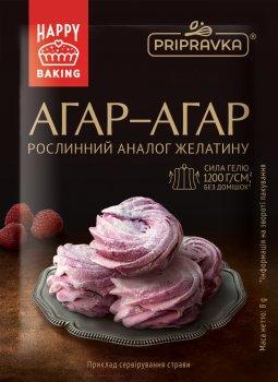 Упаковка агар-агару харчового Приправка 8 г х 10 шт. (4820195512517)