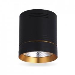 Світлодіодний світильник Feron AL542 10w чорний-золото