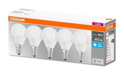 Набір LED ламп OSRAM P40 5W 4000K E14*5 (11886182)