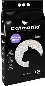 Наполнитель для кошачьего туалета Catmania лаванда + фиолетовые гранулы Бентонитовый комкующий 10л (8682162004069)