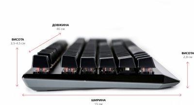 Клавиатура проводная Motospeed CK95 USB Black ENG, UKR, RUS Outemu Red (mtck95cmr)