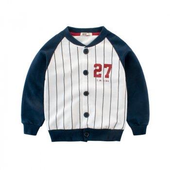 Кофта для мальчика Мелкая полоса, тёмно-синий 27 KIDS Темно-синий (52191)
