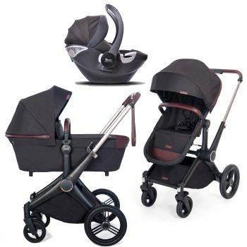 Дизайнерська універсальна коляска 3 в 1 Shom Roberto Verino Elegance Midnight Black