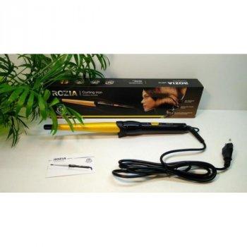 Плойка з конусною насадкою Rozia HR-713 для укладання і завивки волосся + 3 режими роботи Чорно-жовта (10096)