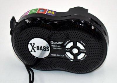 Акустическая система беспроводная Golon RX-144BT аккумуляторная + радио + Bluetooth + USB и функция Power Bank Чёрная (10185)