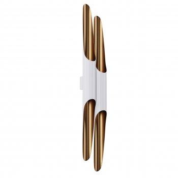 Бра для вітальні, спальні, офісу, кухні, передпокої, кафе P-full 5491-12 алюміній бронзовий з білим PikArt