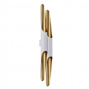 Бра для вітальні, спальні, офісу, кухні, передпокої, кафе P-full 5491-4 алюміній білий з золотистим PikArt