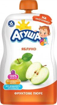 Упаковка пюре Агуша Яблуко 90 г х 10 шт. (4823063115971)