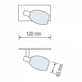 Світильник стельовий Horoz Electric Manavgat-1 max 40Вт Е14 (035-003-0001)