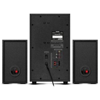 Акустична система ( колонки ) SVEN MS-2250 (black) 2.1 50W Woofer + 2*15 speaker, BT, FM, SD, USB, LED, ДУ (23689)