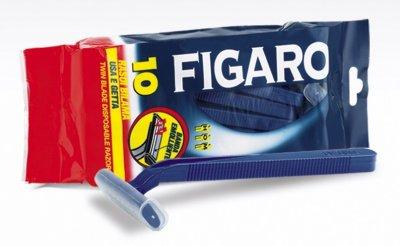 Одноразовая бритва Figaro Uomo с смягчающей лентой и двойным лезвием, 10шт